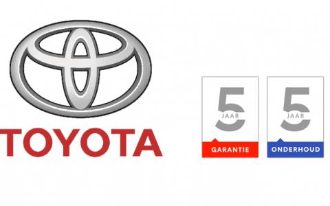 Nieuw bij Toyota 5 jaar onderhoud en 5 jaar garantie op bijna alle nieuwe Toyota modellen